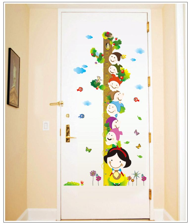 Large Colorful Cute Snow White Princess Seven Dwarfs Home Decals