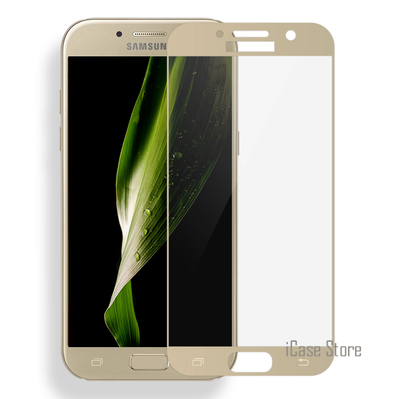 3D Full <font><b>Cover</b></font> Tempered <font><b>Glass</b></font> For <font><b>Samsung</b></font> <font><b>Galaxy</b></font> <font><b>A3</b></font> A5 A7 (<font><b>2017</b></font> TYPE )A320 A520 A720 Screen Protector Curved Edge Protective Film image