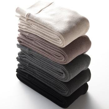цена Warm Winter Leggings Women Velvet Thick High Waist Christmas Leggins Pants Legging Plush cotton vertical stripe leggings 2020 онлайн в 2017 году