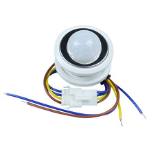 1pcs 40mm PIR Infrared Ray Motion Sensor Switch time delay  adjustable mode detector switching