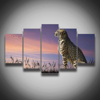 Printed Picture Leopard Animal Canvas Painting Landscape Wall Art Home Decoration Canvas Art Print Poster