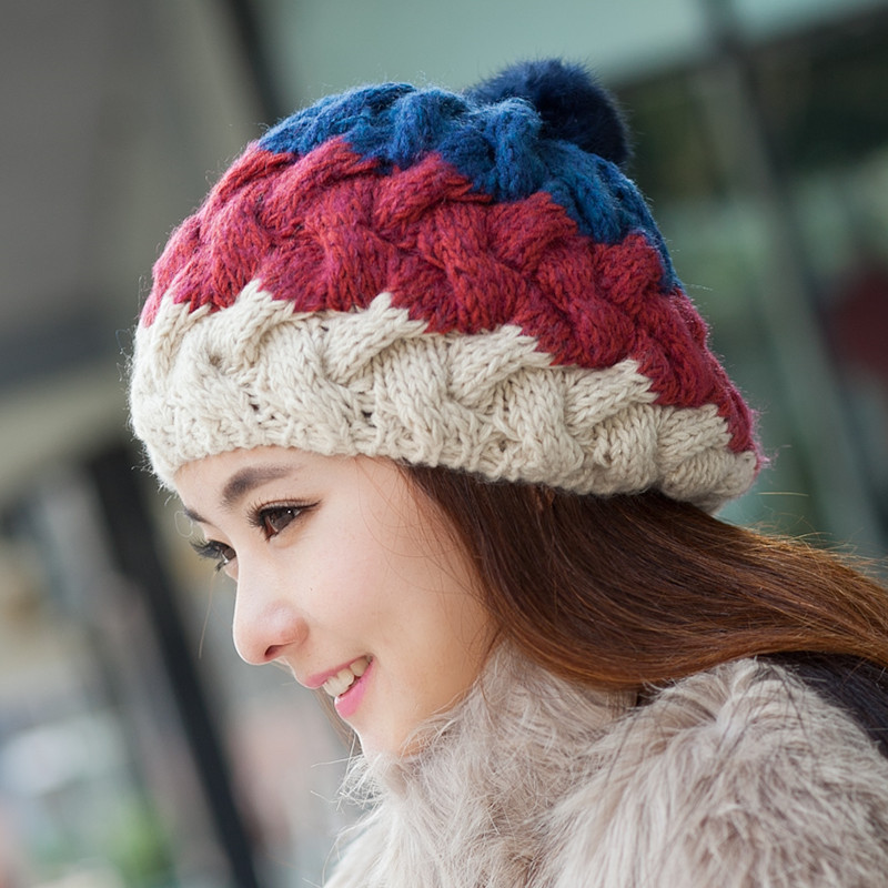 Women's Winter Hat Knitted Warm Beanie Female Fashion Skullies Casual Outdoor Mask Ski Caps Thick Warm Hats For Women