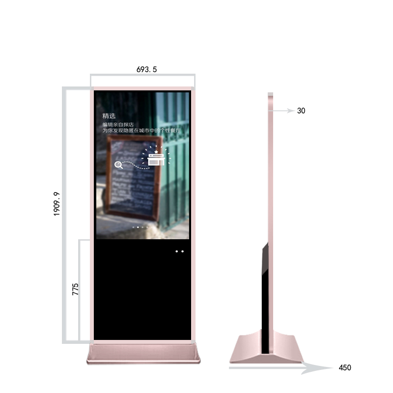 Affichage de joueur de signage numérique androïde de 49 pouces HD annonçant les centres commerciaux de kiosque d'écran tactile, centres commerciaux d'hôtel, cabine de photo - 3