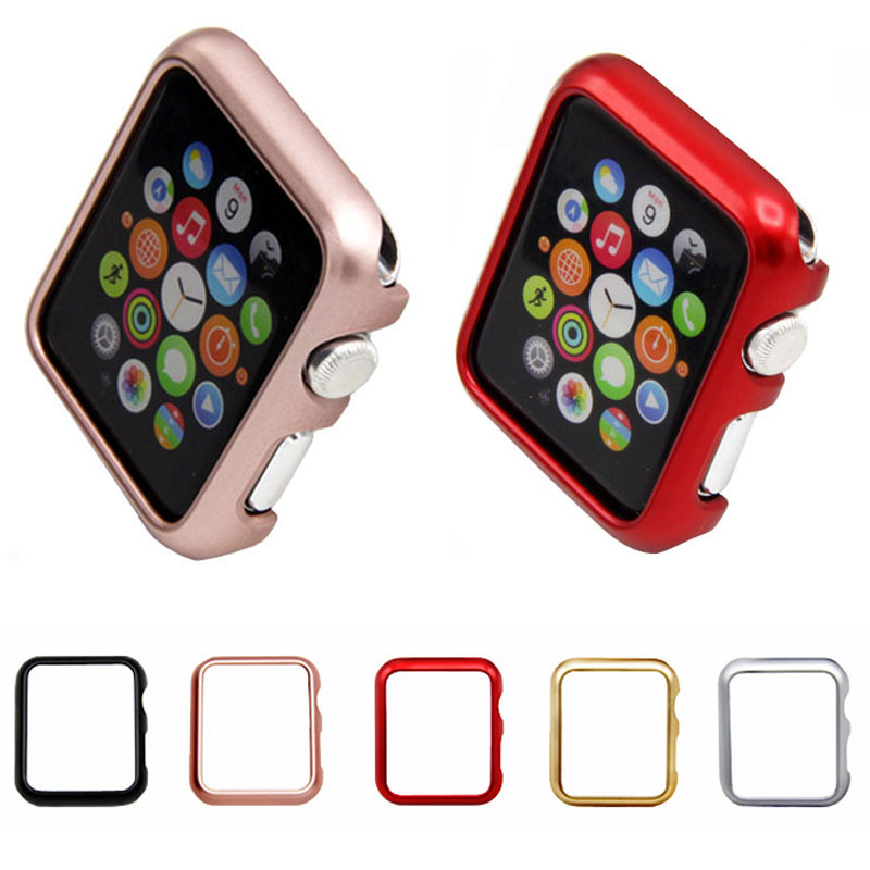 Case Cover For Apple Watch Band 42mm 38mm IWatch 3 2 1 Frame PC Protective Bumper Case Gold Plating Shell