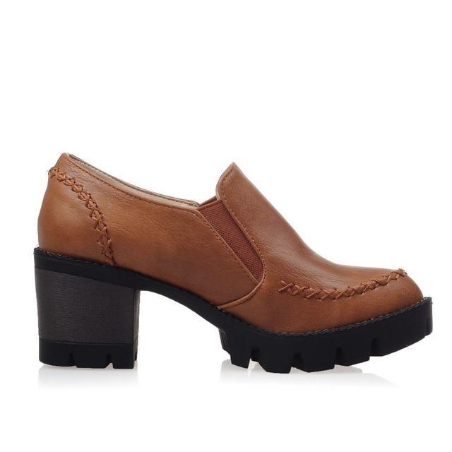 ASUMER Plus size 34-43 new fashion slip on women pumps high quality thick high heels platform shoes woman