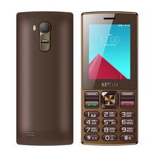 Téléphone portable original avec écran de 2.4 pouces, double carte SIM, GSM, Bluetooth, lampe de poche, MP3, MP4, FM, GPRS, avec clavier russe