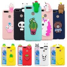 Huawei honor 7c caso capa 5.7 polegada on para honor7c huawei honor 7c AUM L41 capa traseira 3d unicórnio panda silicone macio telefone casos