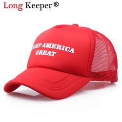 Прохладный Новый Дональд Трамп Red Hat переизбрания держать Америку Великой сезон: весна–лето Прохладный Бейсбол регулируемые кепки с