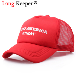 Cool New Donald Trump Red Hat Re-Election Keep America Great Spring Summer Cool Baseball Mesh Caps Adjustable Sport Hat(China)