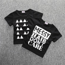 Hot Sale New 2019 Children short sleeve t-shirts, Kids Clothing Tees,Cool  Letter Boys T Shirts,Children Outwear Baby T-shirt