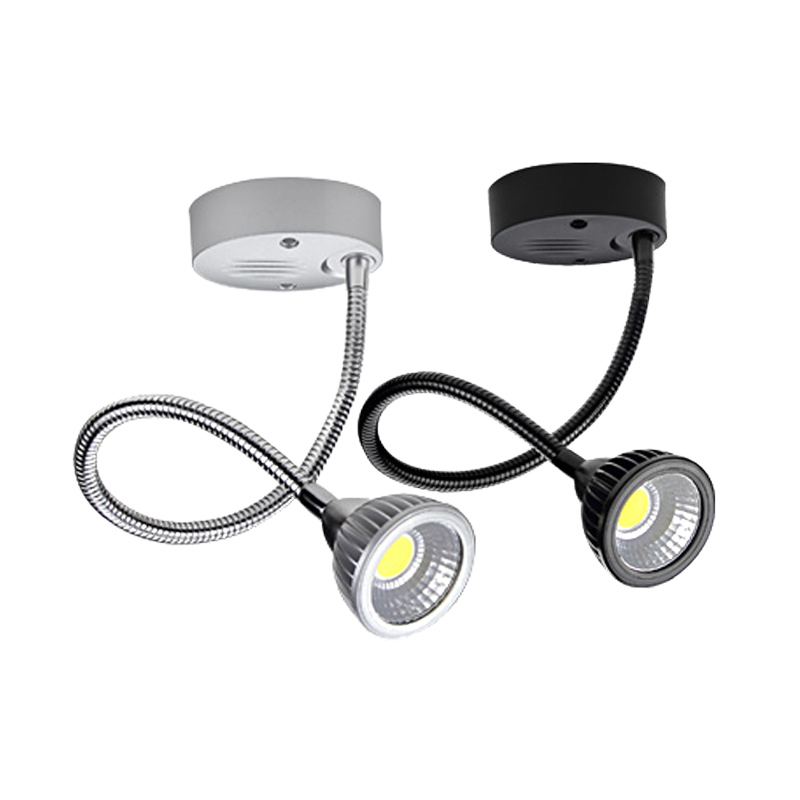 dimmable spot lamp 5W luz escaparate led track rail and surface mounted spot led fixture85-265V plafond spots 4pcs