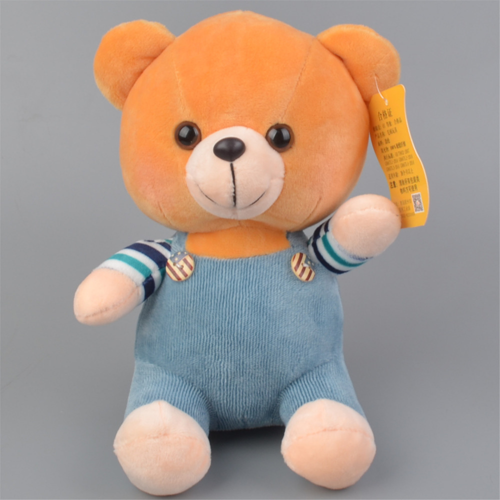20cm Blue Color Baby Teddy Bear Stuffed Plush Toy, Kids Doll Gift Free Shipping forest lion stuffed plush toy pencil case kids child coin bag gift free shipping