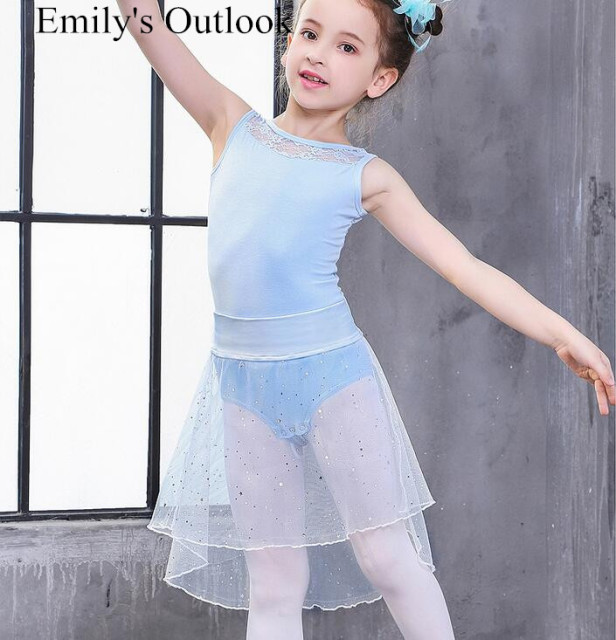 0c13d571f 2 Piece Set Girl s Ballet Dance Clothes Leotard Skirt Summer ...