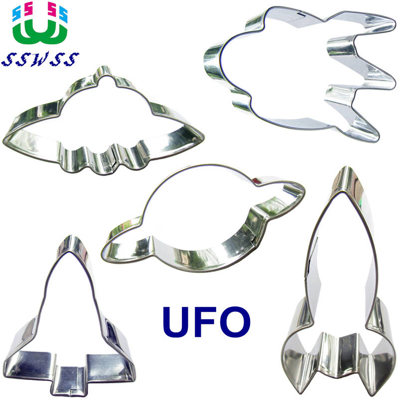 Spacecraft Shape Baking Molds,Explore The Mysterious Universe Cake Cookie Biscuit Decorating Fondant Tools Sets,Direct Selling