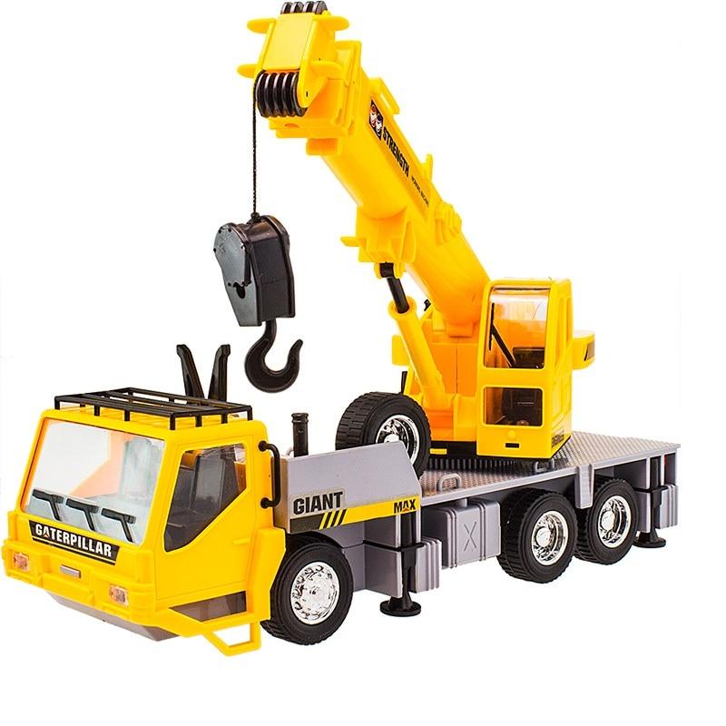 RC Crane Truck 4 Channel Engineering Hoist 6 Wheel Truck Crane With Hook Remote Control Simulation Crane Model electronic toys цена