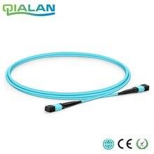 10 m 24 núcleos MPO de parche de fibra Cable OM3 UPC Jersey hembra a hembra parche Cable multimodo maletero Cable tipo A tipo B Tipo C