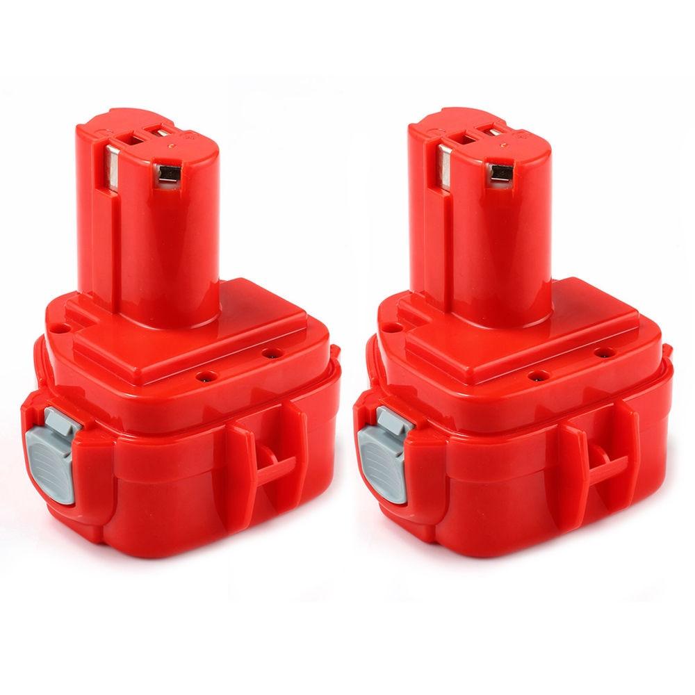 2 x New 3.5AH NI-CD 12V 12 Volt Battery for Makita 1220 1222 1233 1234 192681-5 192696