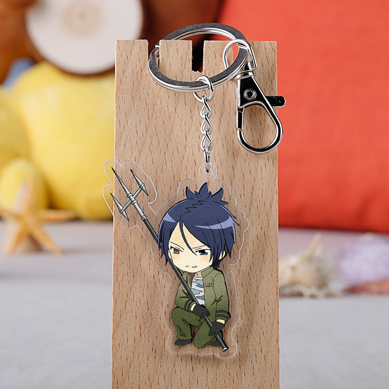 Japanese Anime Hitman Reborn Cartoon Figure Car Key Chains Holder Best Friend Graduation Chirstmas Day Gift in Key Chains from Jewelry Accessories