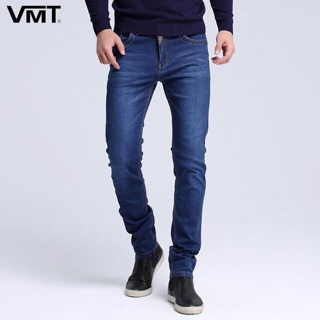 2019 Новый Для мужчин s брендовые джинсы модные Для мужчин Повседневное Slim fit Straight высокого стрейч ноги обтягивающие мужские джинсы черный Лидер продаж Мужские брюки