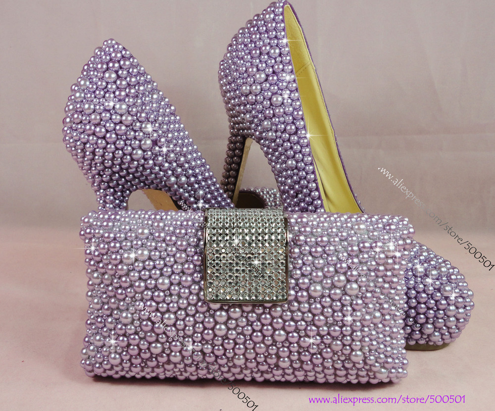 How Purple Wedding Shoes And Matching Bag Is Going To