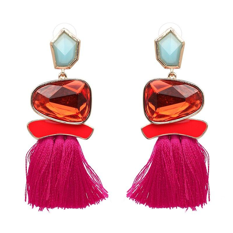 Boho Кольорові сережки для жінок - Модні прикраси - фото 4