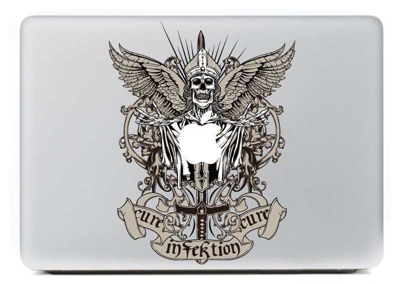 Death comes Vinyl Decal Sticker for DIY Macbook Pro / Air 11 13 15 Inch Laptop Case Cover Sticker