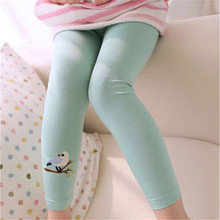 Summer&Autumn Toddler Baby Girls Skinny Pants  Kids Leggings Cute Bird Print Stretchy Leggings 2-7 Years