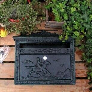 rural cast iron mail box mailbox