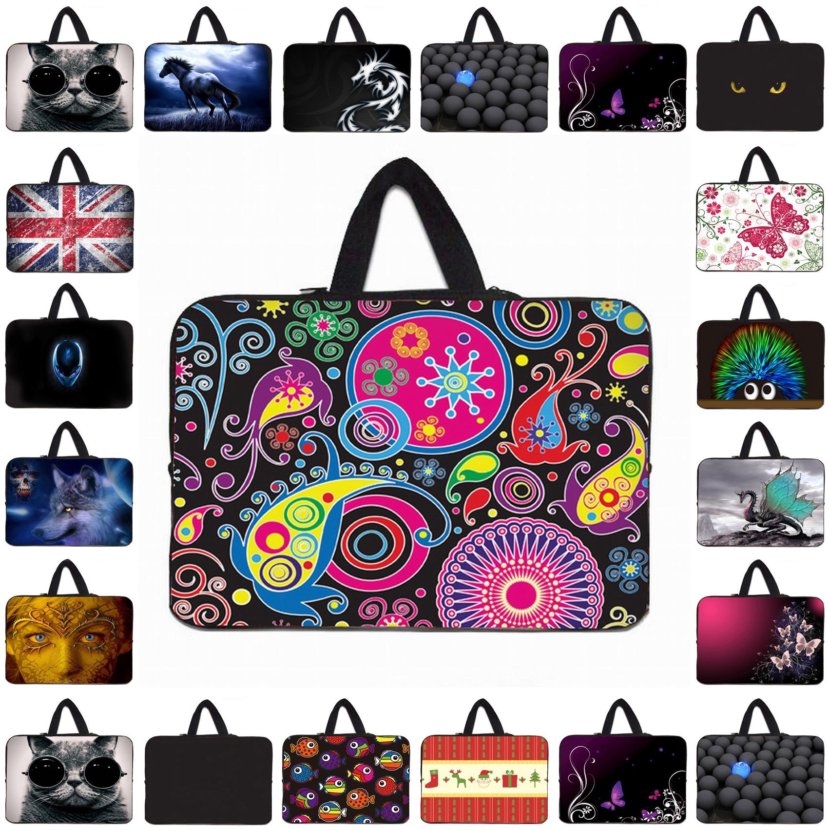 "Netbook Tablet Neoprene Inner Pouch Bags For Acer Aspire Switch 10 Mini Laptop Cases 9.7"" 10.1"" 10.2"" Notebook Fashion Handbag"
