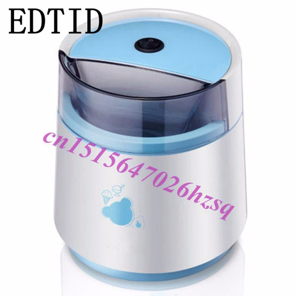 EDTID Household Full Automatic Fruit Ice Cream Machine Home Ice Cream Maker yoghurt dessert maker edtid 12kgs 24h portable automatic ice maker household bullet round ice make machine for family bar coffee shop eu us uk plug