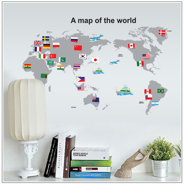 Where can i buy removable wallpaper my web value pvc removable wallpaper world map wall sticker posters home decoration country travel tours map paper wall gumiabroncs Images