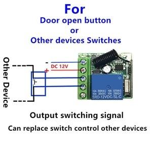 Image 5 - QIACHIP 433 MHz Universel Sans Fil Commutateur de Commande À Distance DC 12 V 1 CH RF Relais Récepteur 433 MHz Module Récepteur pour les Commutateurs De Lumière
