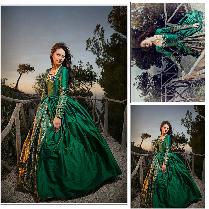 Te koop door klant gemaakt Vintage kostuums Victoriaanse jurk 1860s - Carnavalskostuums
