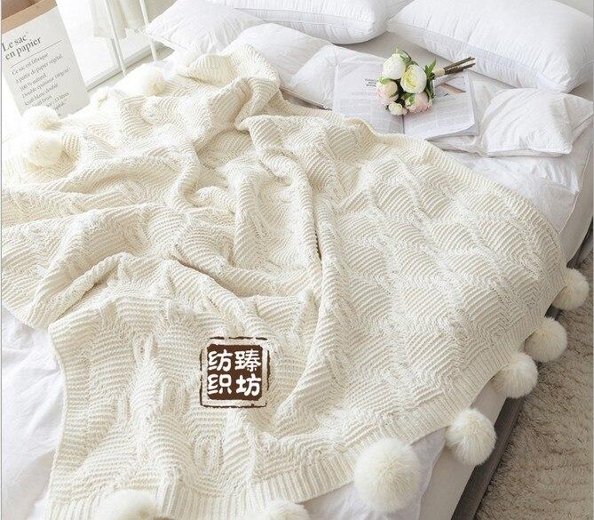 Envío gratis color blanco Bola manta Manta sofá Manta Alfombra de ...