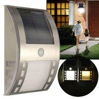 Wysokiej Jakości Wodoodporna 3 LED Solar Power PIR Czujnik Ruchu Na Zewnątrz Ogród Światła Na Ścianie