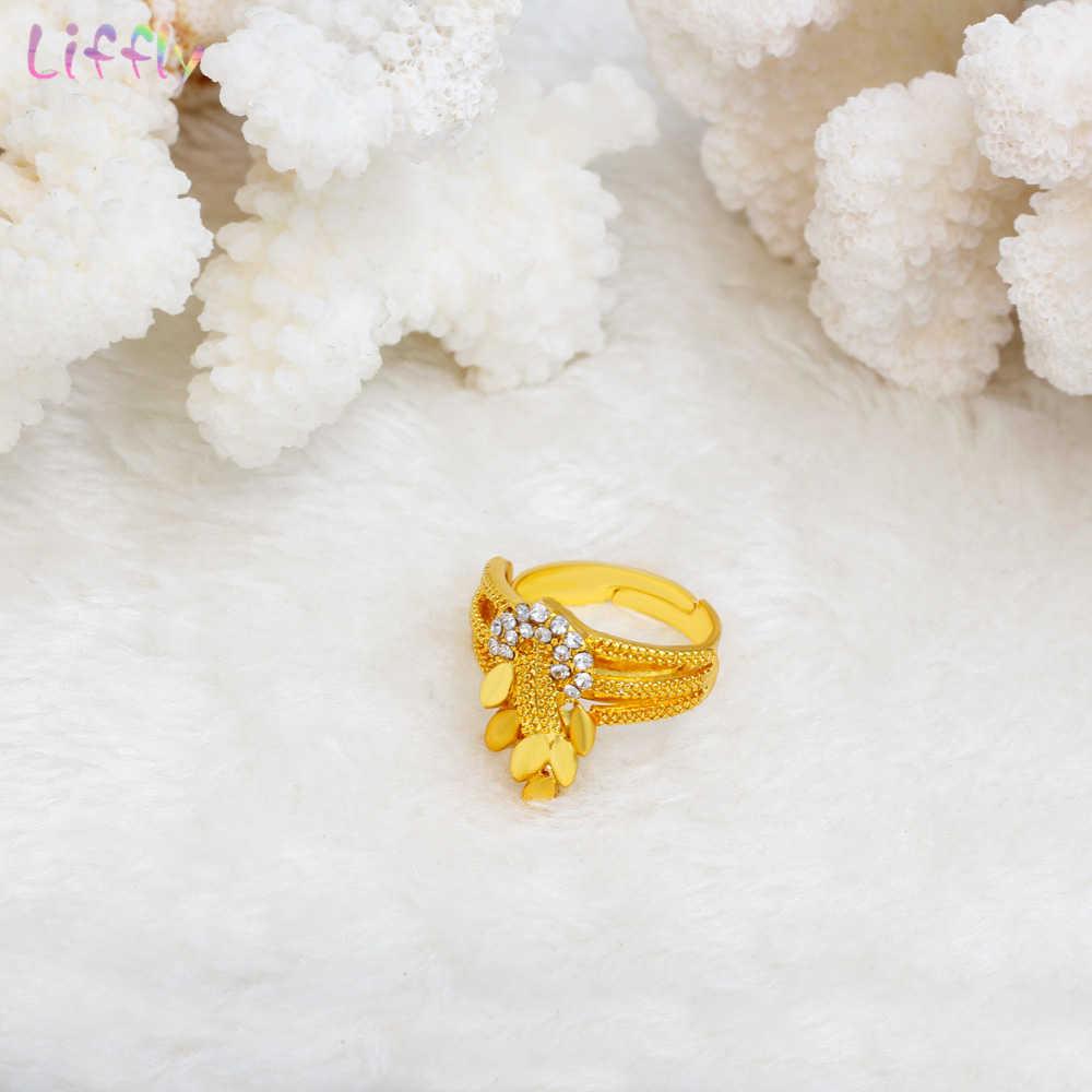 Liffly Свадебный Комплект украшений из Дубая комплект ювелирных украшений золотистого цвета ожерелье серьги браслет набор для женщин Свадебные украшения