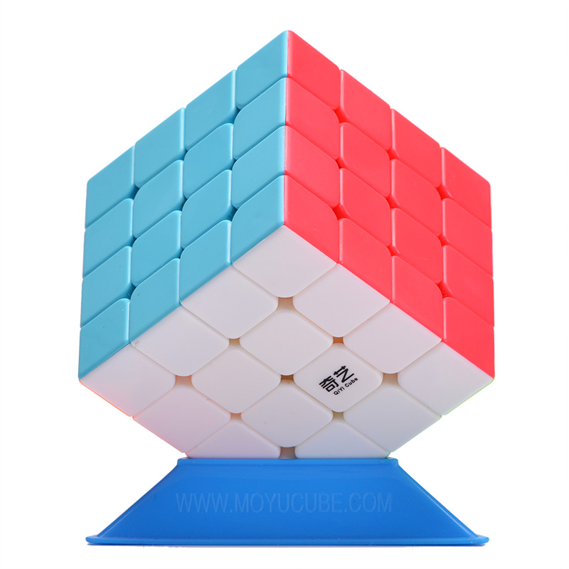 QiYi 4x4x4 Magic Cube Stickerless Professional Competition Speed Cube Educational Puzzle anti-stress Neo Cube Toys for Children