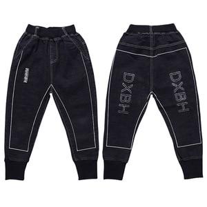 Image 5 - Mode Jungen Hosen Frühling Herbst Kinder Jeans Hose Baumwolle Solide Schwarze Lange Hose für Teen Junge Kleinkind Baby Kleidung 3T 8 13Y