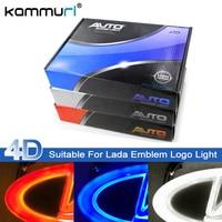 Car Styling 4D Cold Light LED Emblem Logo Light for Lada Granta Vesta Xray Largus VU 4X4 Niva Kalina Priora Emblem Logo Lights