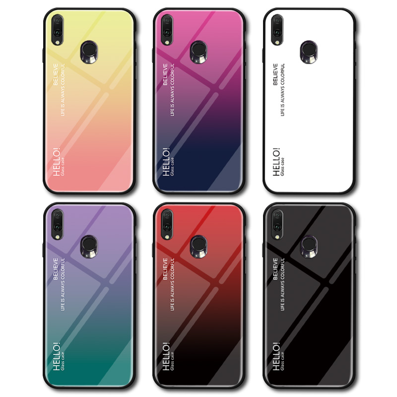 Image 3 - Gradient Tempered Glass Phone Case For ASUS Zenfone ZB601KL ZB631KL Protective Case For ASUS Max Pro M2 M1 ZB601KL ZB631KL Cover-in Fitted Cases from Cellphones & Telecommunications