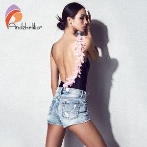 Image 5 - Andzhelika 1 Gợi Cảm Vai Hồng Và Đen Hoa Một Mảnh Nữ Mùa Hè 2020 Quần Bơi Bodysuit Áo Tắm Monokini
