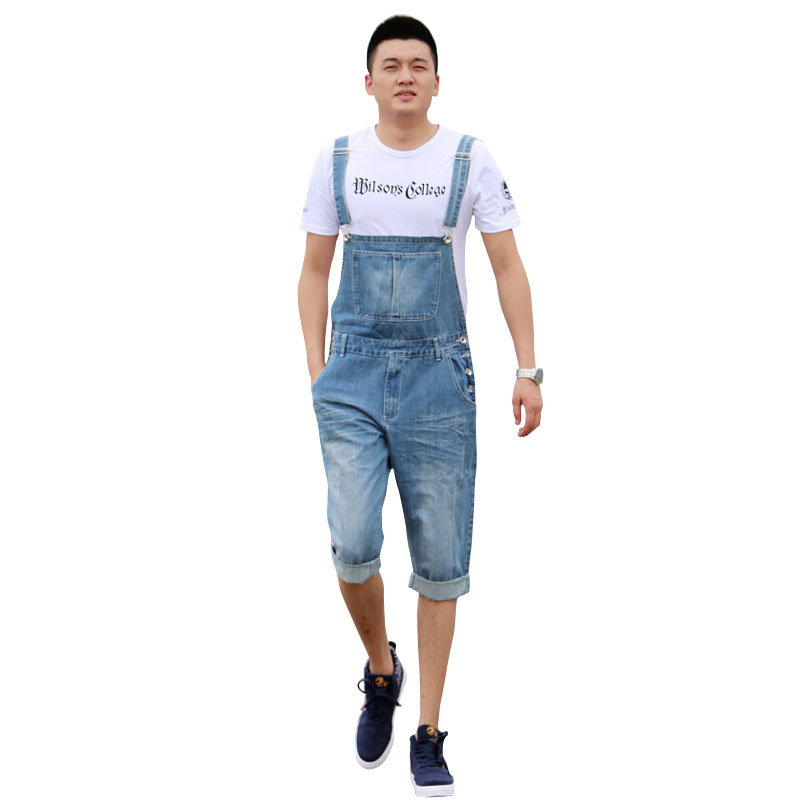 цены  New Arrival 2017 High Quality Men's Jeans Straps Denim Jumpsuit Mens Bib Overalls For Men Blue XS S M L XL XXL XXXL XXXXL 5XL