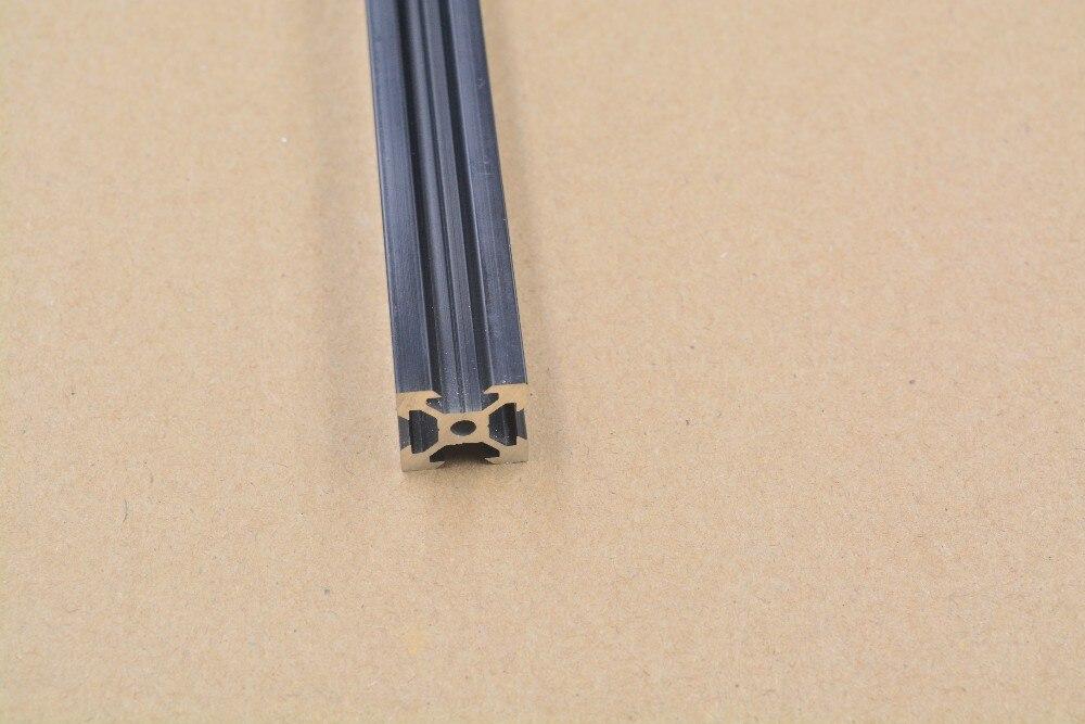2020 Aluminum Extrusion Profile European Standard  V-slot Black Length 300mm   Workbench 1pcs