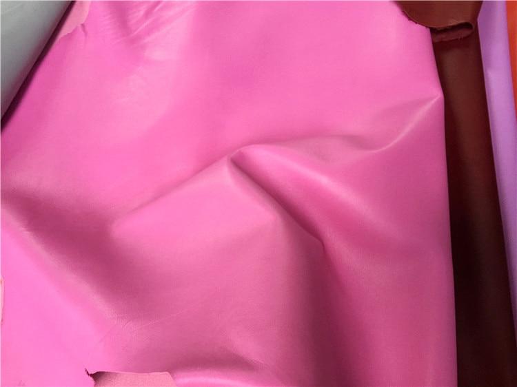 Rose Véritable peau de mouton en cuir matériel vente par pièce entière