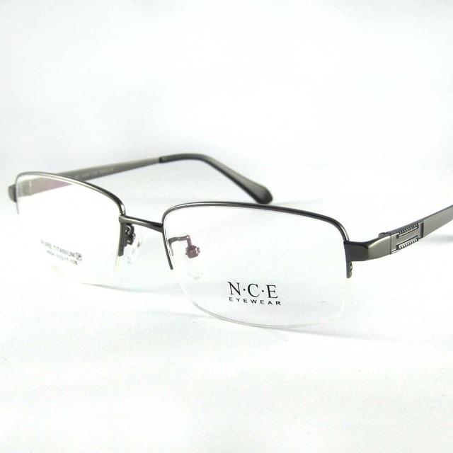 4390794b3a9e7 Retangular homens óculos armação 100% Titanium armação dos óculos Optical  óculos de leitura óculos meia
