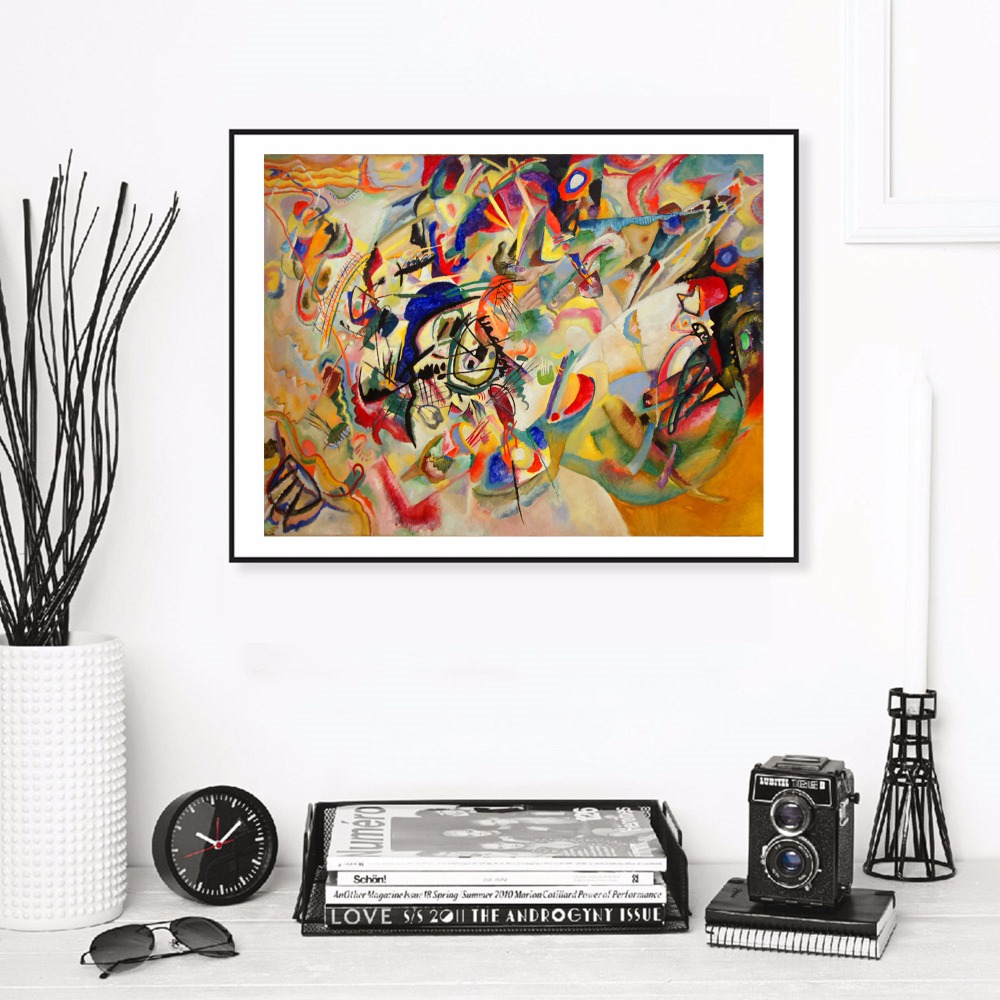 Kandinsky Abstract Figures Canvas Art Print Painting Poster Wall Pictures For Room Home Decorative Bedroom Decor No Frame