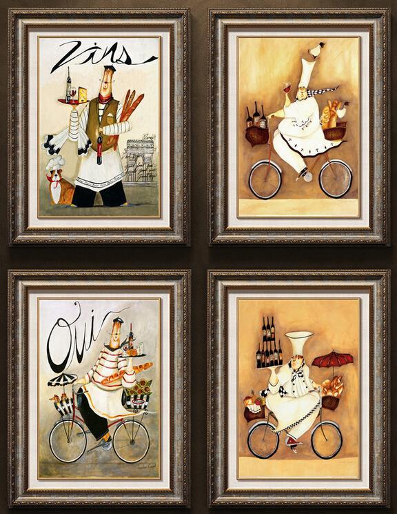 tela pittura 4 pezzo di modo talloni depoca pittura murale decorativos immagine arte stampe