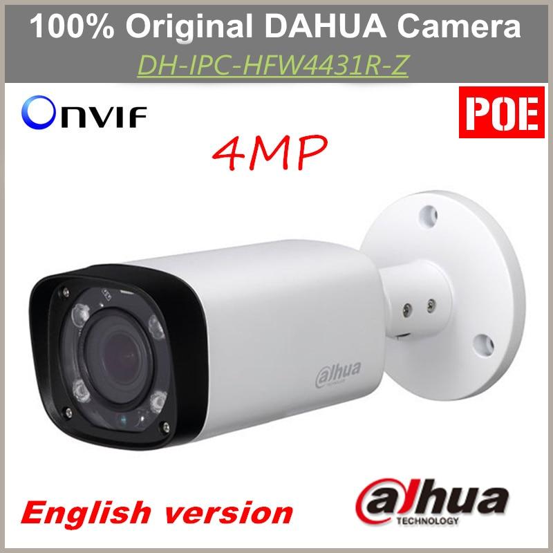 Anglais POE Dahua IP Caméra IPC-HFW4431R-Z À Focale Variable Objectif Motorisé IR distance 80 m 4MP Caméra Remplacement pour IPC-HFW4300R-Z