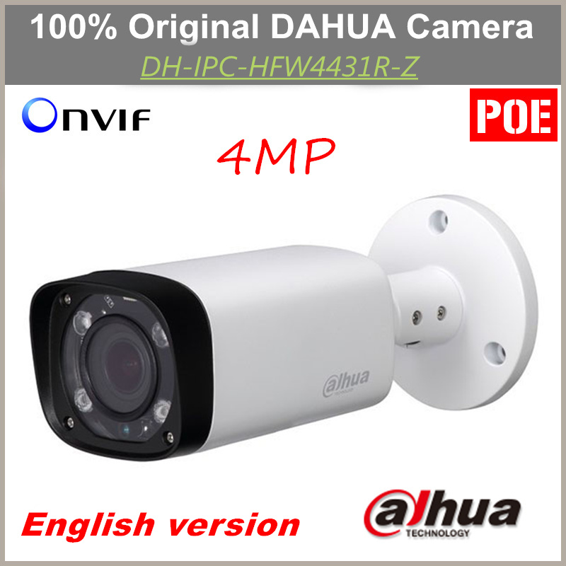 English POE Dahua IP Camera IPC-HFW4431R-Z Varifocal Motorized Lens IR distance 80m 4MP Camera Replacement for IPC-HFW4300R-Z mitsubishi 100% mds r v1 80 mds r v1 80