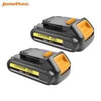 Powtree 20V 2000mAh DCB200 Li-ion Rechargeable Power Tool Battery For DEWALT DCB203 DCB181 DCB180 DCB200 DCB201 DCB201-2 L50